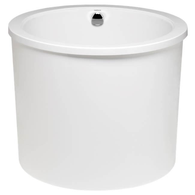 Americh Jacob - Tub Only with integral drain, White