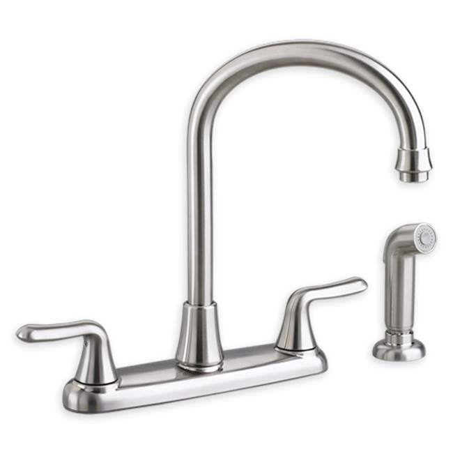 American Standard Colony Soft 2-Handle High-Arc Kitchen Faucet with Separate Side Spray
