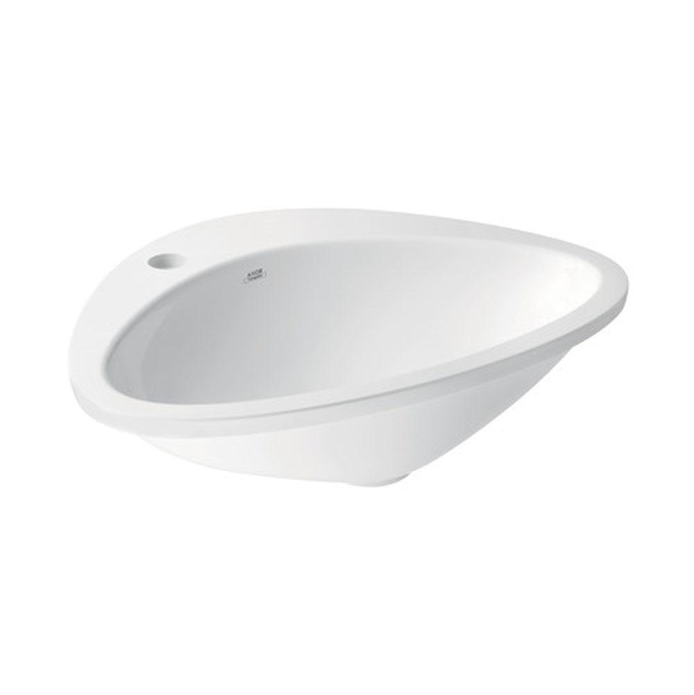 Axor AXOR Massaud Drop-In Sink 545/469 with 1 Hole in Alpine White