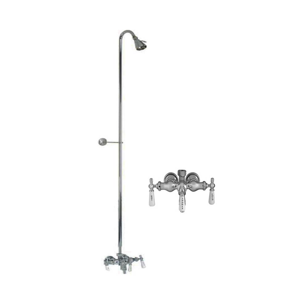 Barclay Diverter Faucet, Old Style Fct, For CI tubs, Polished Chrome