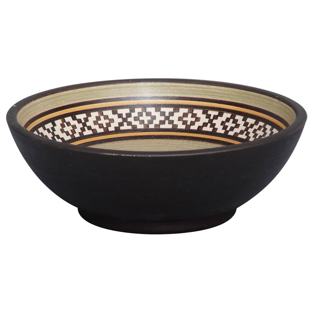 Barclay Fango 14'' Round Vessel, Pampa Brown