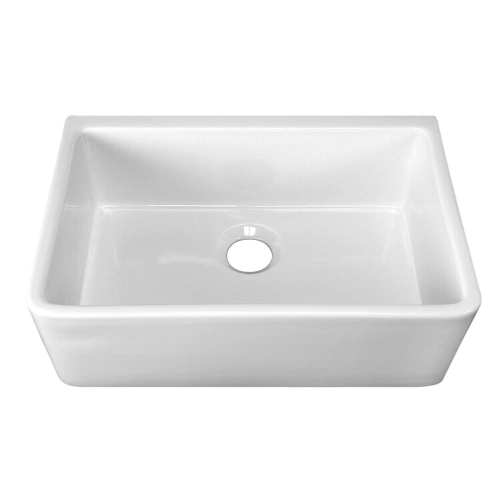 Barclay Delia 30'' Farmer Sink Center Drain, WH