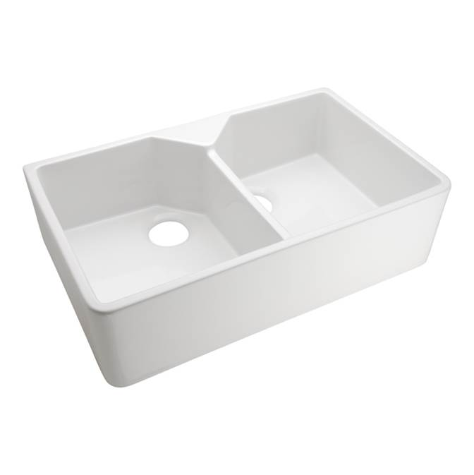 Barclay Jolie 31.5'' Double Bowl FarmerSink, One-Hole,  Bisque