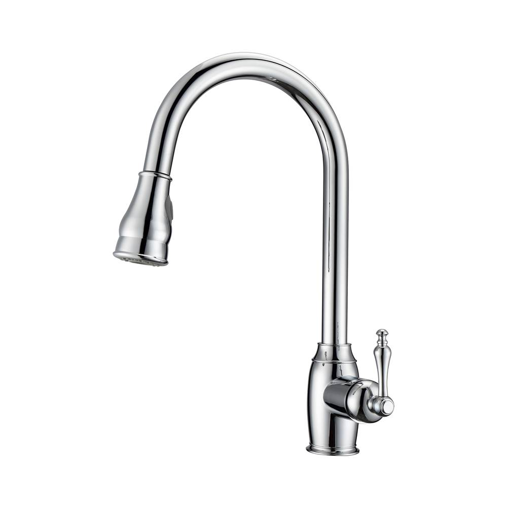 Barclay Bay Kitchen Faucet,Pull-Out Spray, Metal Lever Handles, CP