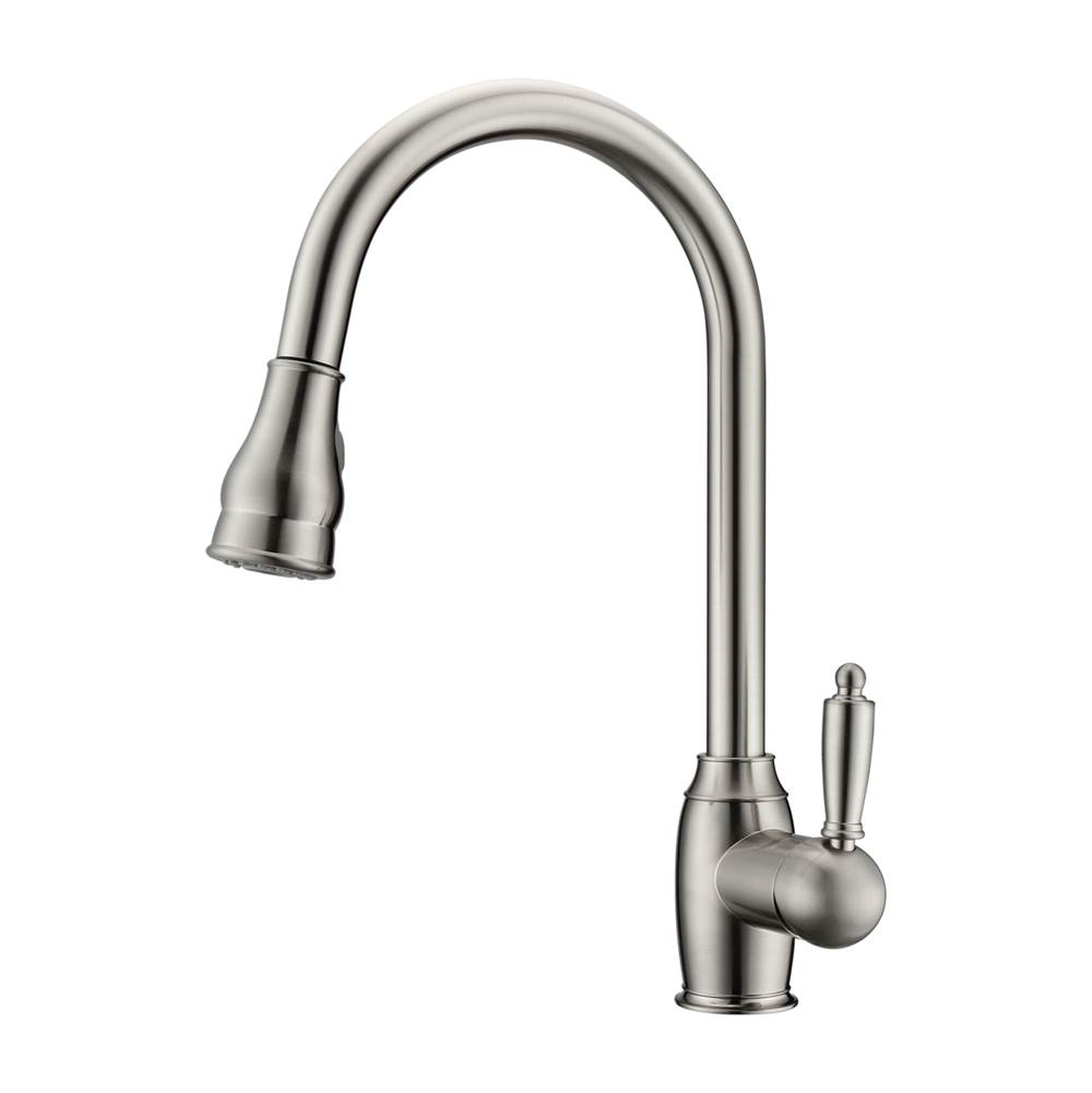 Barclay Bay Kitchen Faucet,Pull-OutSpray, Metal Lever Handles, BN