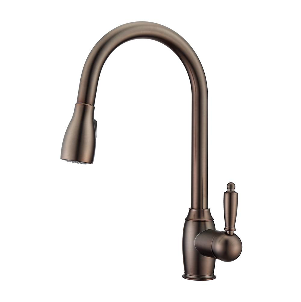 Barclay Bistro Kitchen Faucet,Pull-OutSpray, Metal Lever Handles,ORB