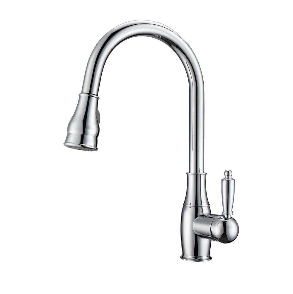 Barclay Caryl Kitchen Faucet,Pull-OutSpray, Metal Lever Handles, CP