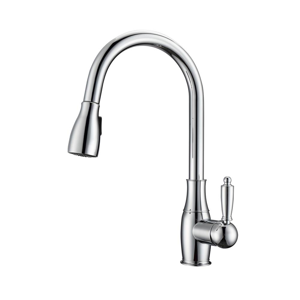 Barclay Cullen Kitchen Faucet,Pull-Out Spray, Metal Lever Handles,CP
