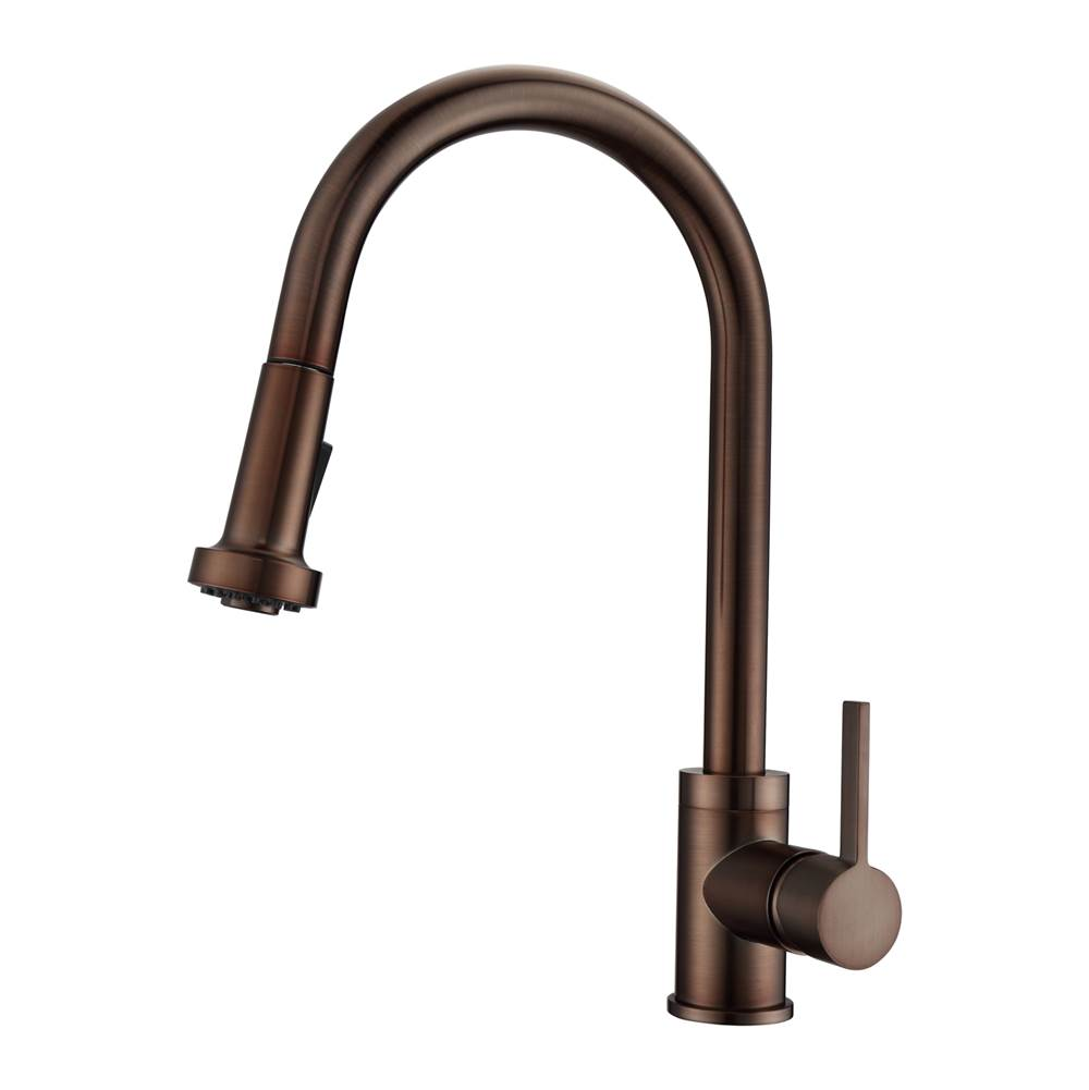 Barclay Fairchild Kitchen Faucet,Pull-out Spray,Metal Levr Hndls,ORB