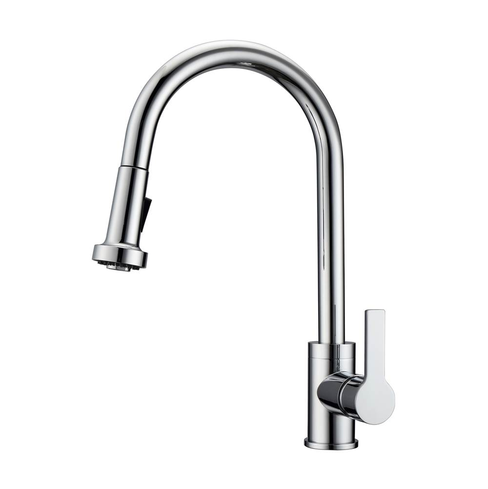 Barclay Fairchild Kitchen Faucet,Pull-out Spray, Metal Levr Hndls,CP