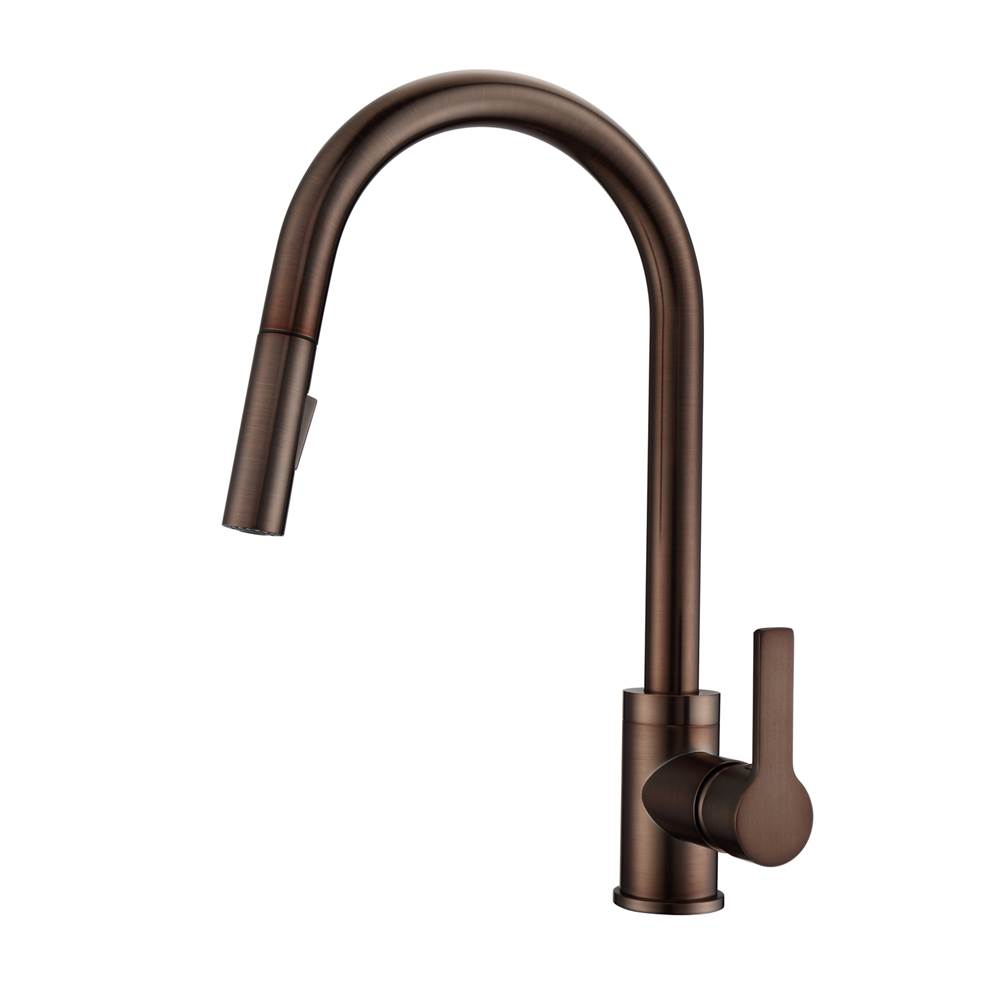 Barclay Fenton Kitchen Faucet,Pull-out Spray, Metal Lever Handles,ORB