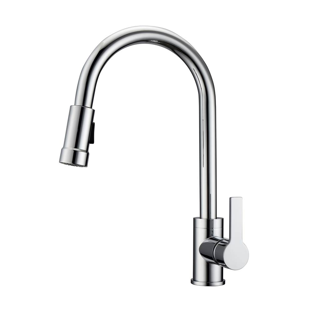Barclay Firth Kitchen Faucet,Pull-out Spray, Metal Lever Handles,CP