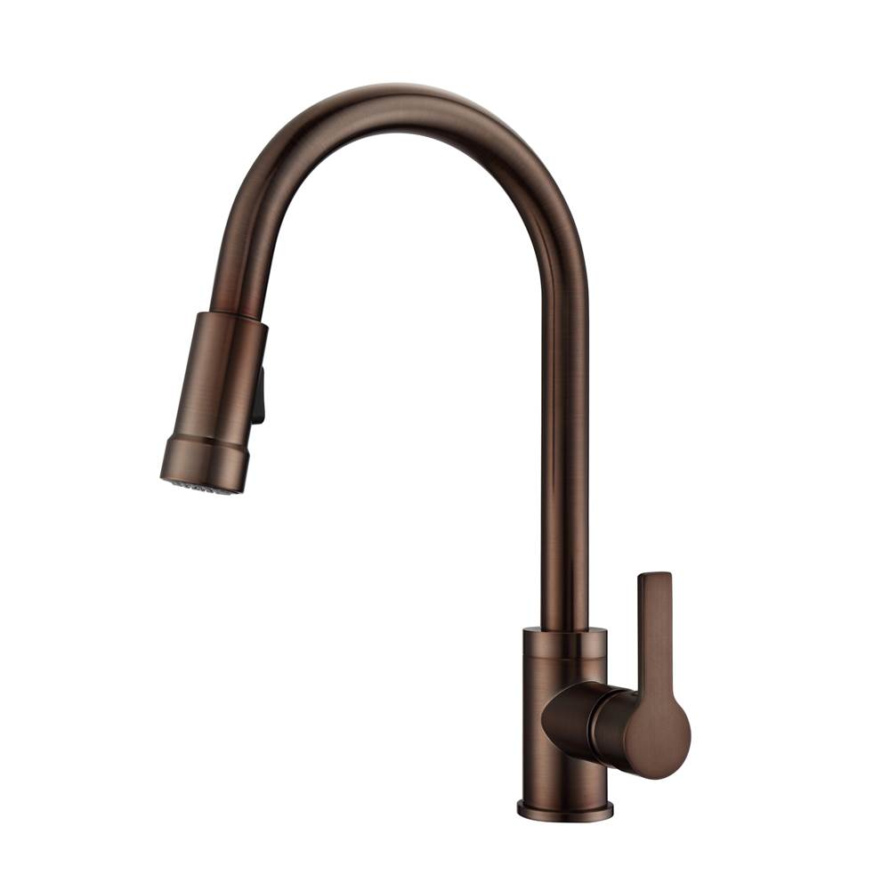 Barclay Firth Kitchen Faucet,Pull-out Spray, Metal Lever Handles,ORB