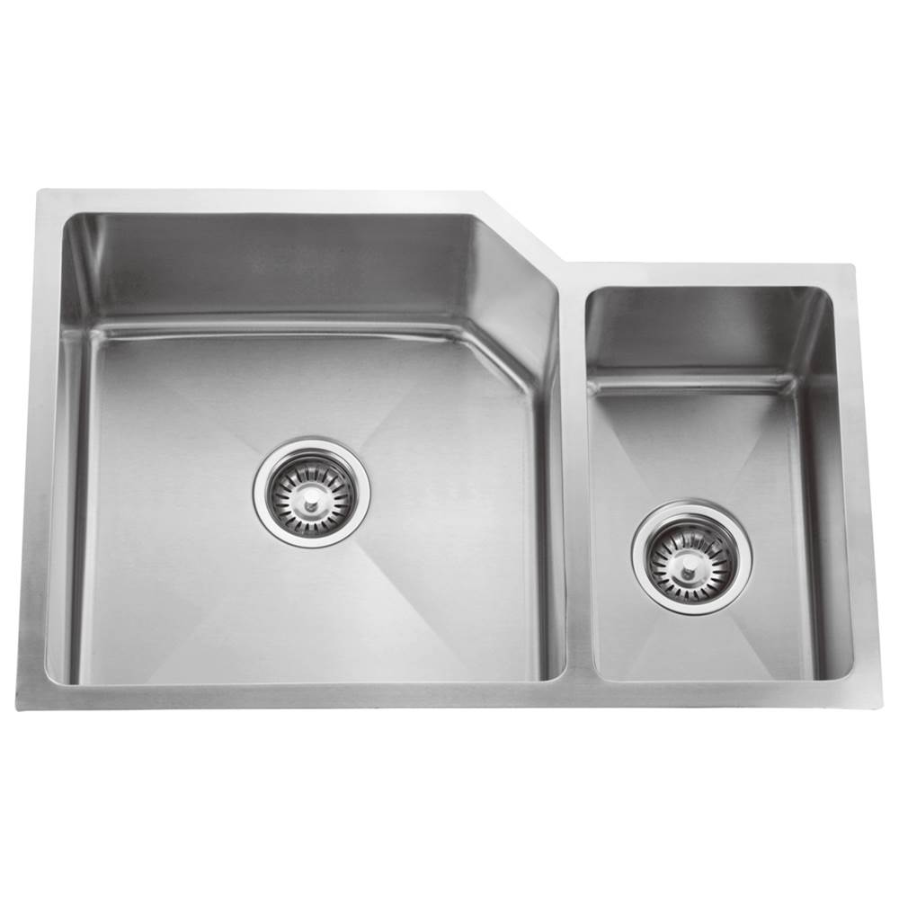 Barclay Laguna 33'' SS 70/30 DoubleBowl Offset Undermount Sink