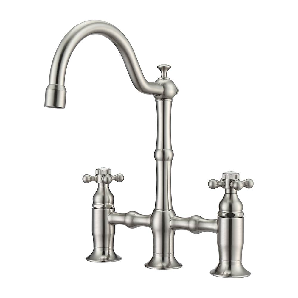 Barclay Dorsett Bridge Bathroom Faucetno hoses,Cross Handles, BN