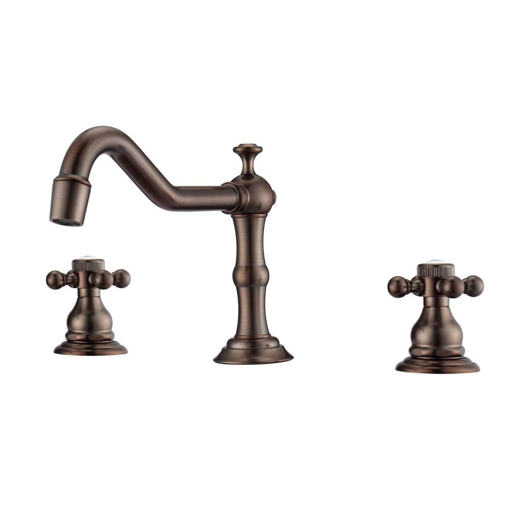 Barclay Roma 8''cc Lav Faucet, with Hoses,Button Cross Handles,ORB