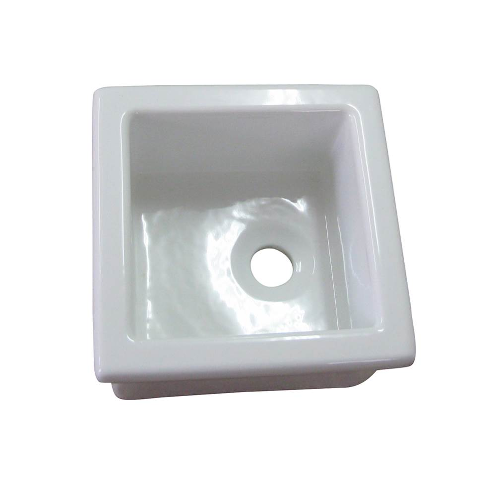 Barclay Utility Sink, 13'' x 13'', Fire Clay, White