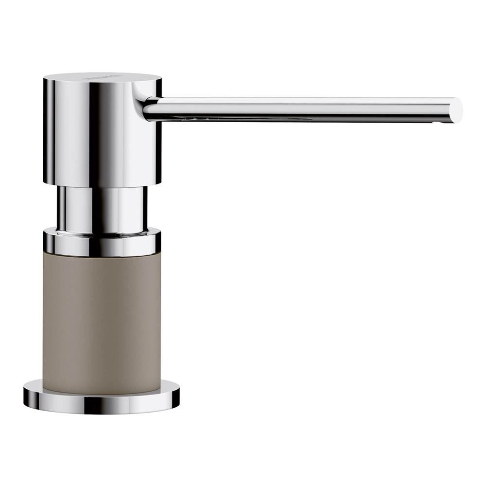 Blanco Lato Soap Dispenser - Truffle/Chrome Dual Finish