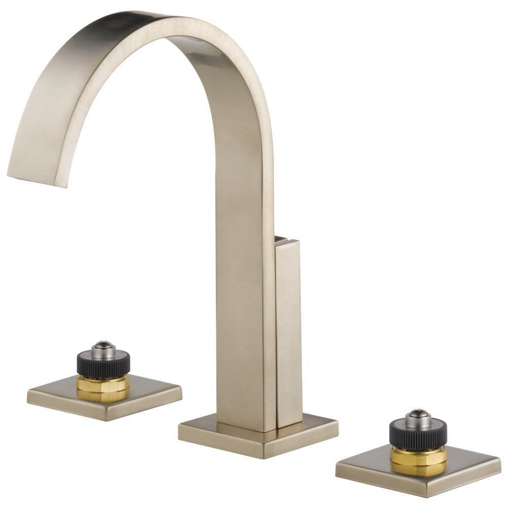 Brizo Siderna: Widespread Lavatory Faucet - Less Handles 1.2 GPM