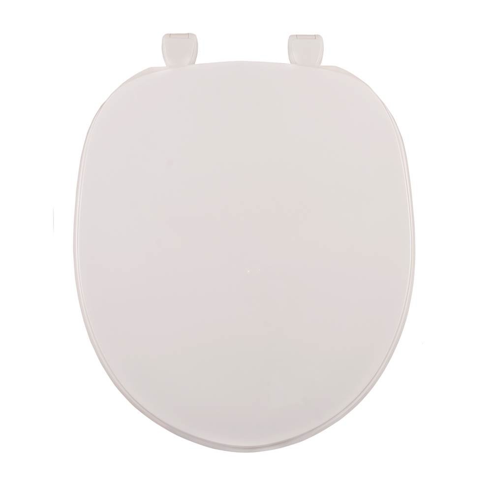 Centoco Deluxe Plastic Toilet Seat, Closed Front With Cover, Biscuit/Linen , Regular Bowl
