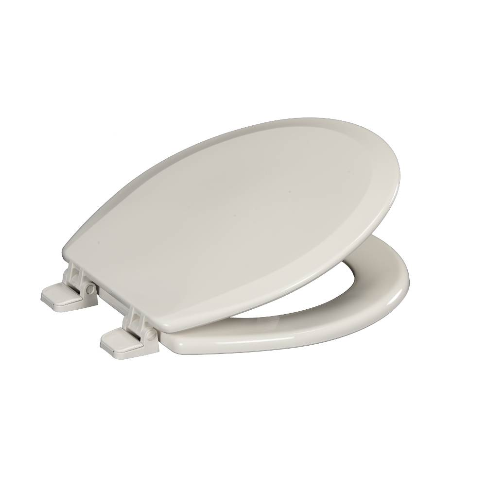 Centoco Deluxe Molded Wood Toilet Seat, Closed Front With Cover, White, Regular Bowl.