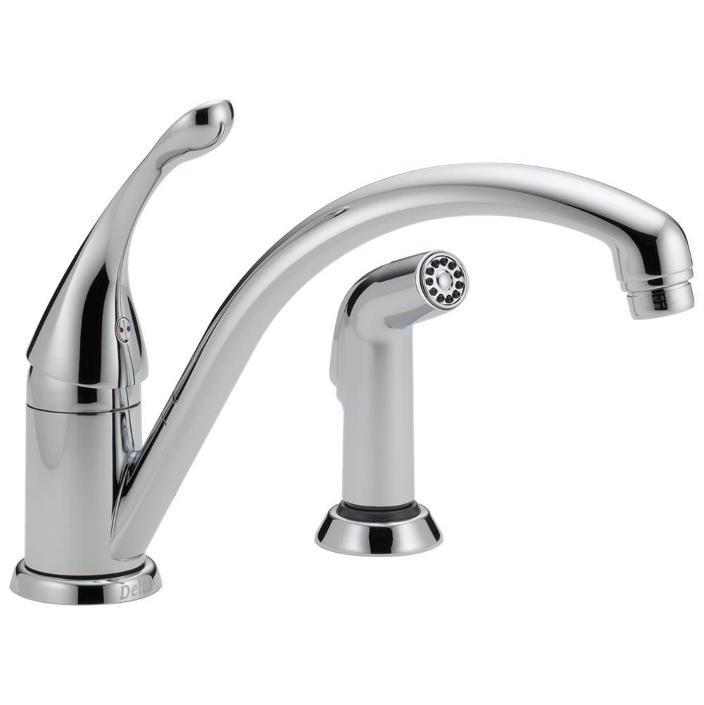 Delta Faucet Collins: Single Handle Kitchen Faucet with Spray