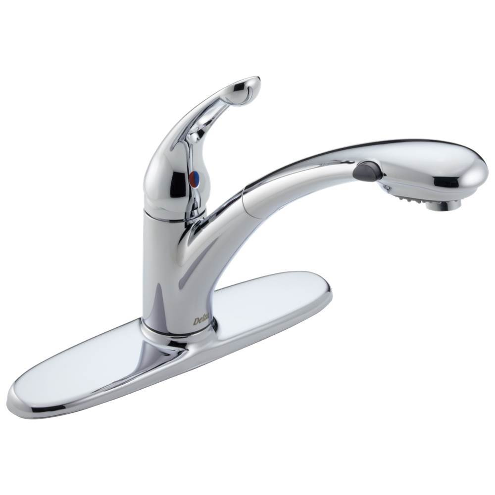 Delta Faucet Signature Pullouts: Single Handle Pull-Out Kitchen Faucet