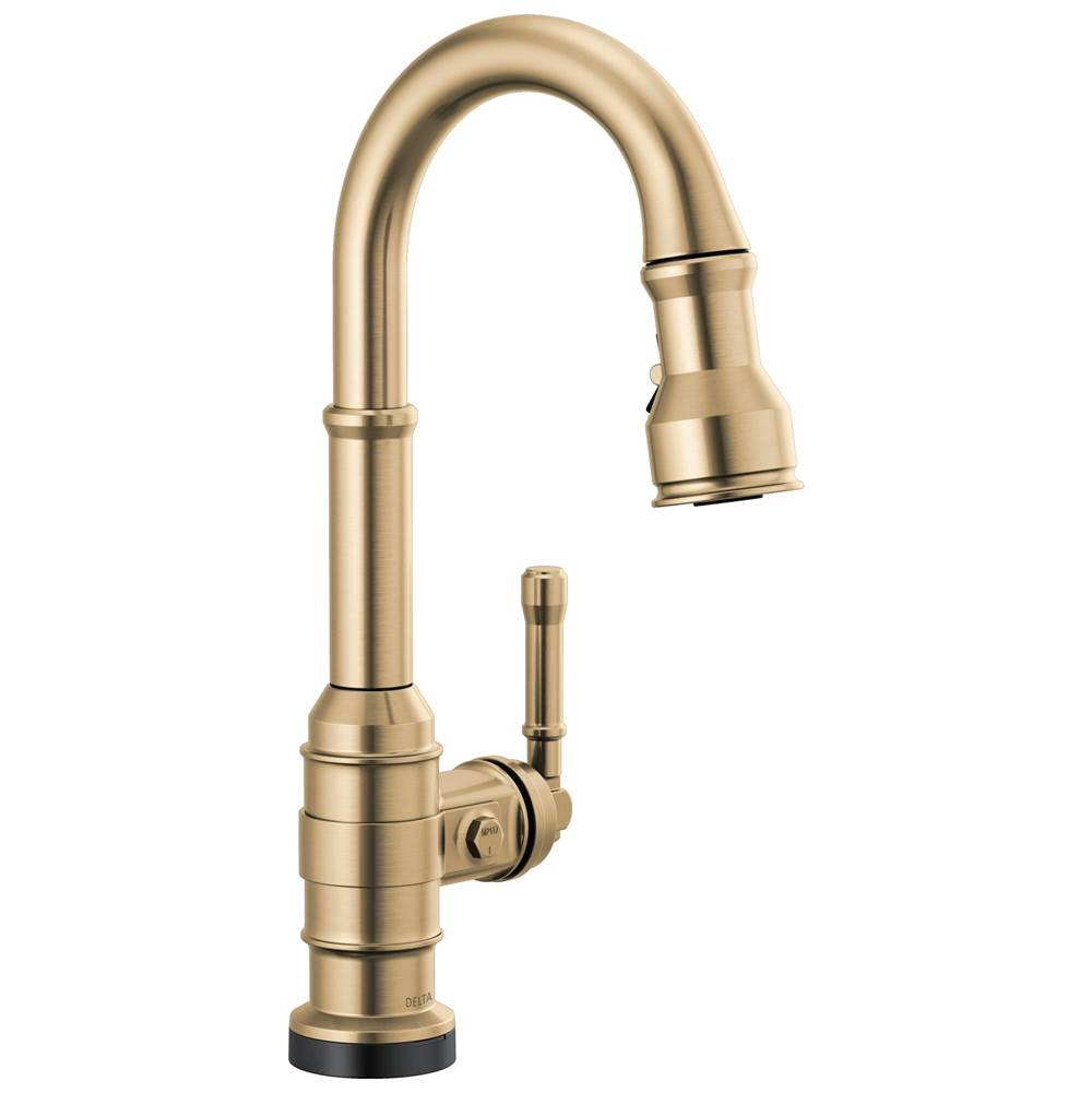 Delta Faucet Broderick: Single Handle Pull-Down Bar/Prep Faucet with Touch2O Technology