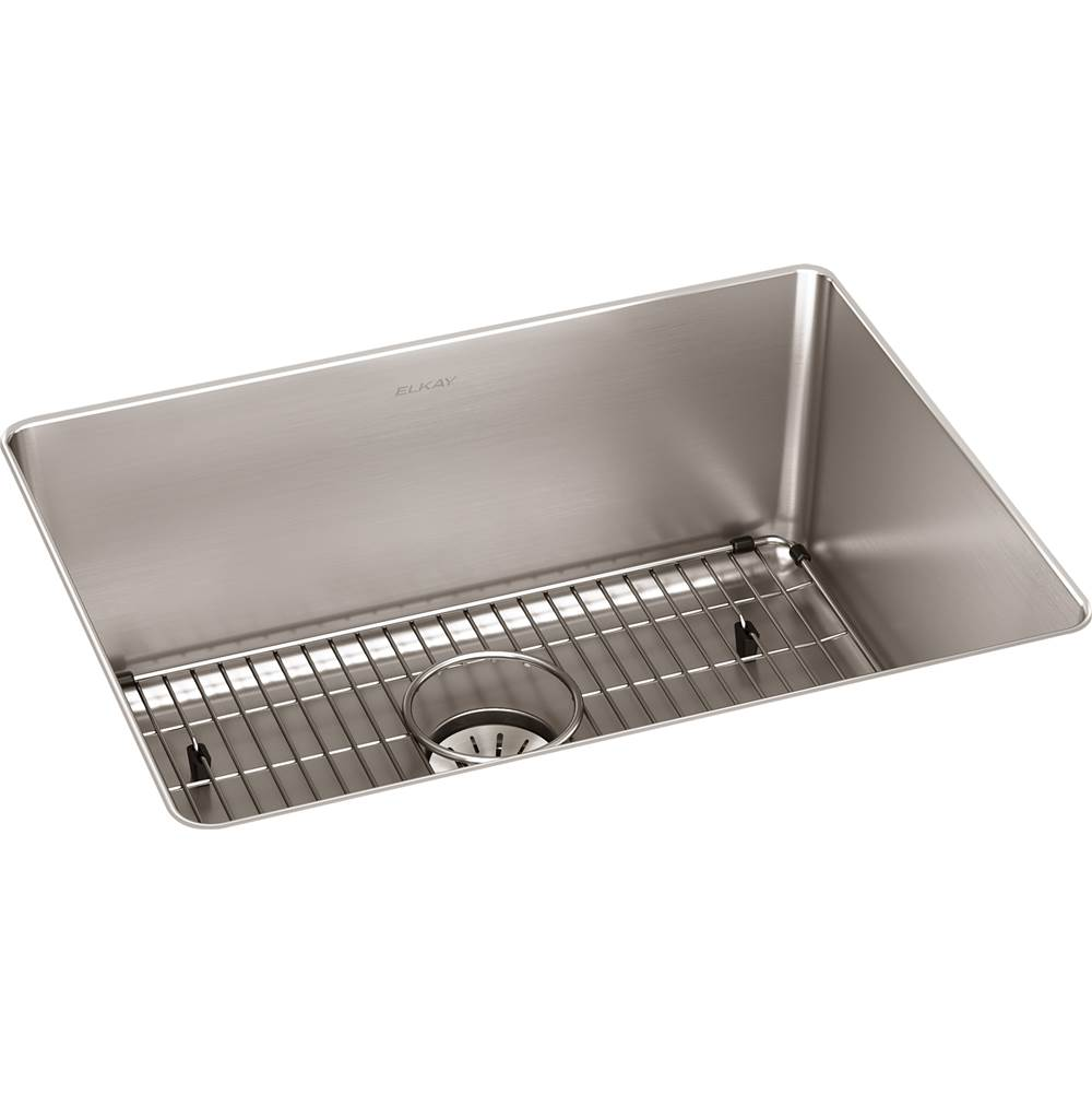 Elkay Reserve Selection Elkay Lustertone Iconix 16 Gauge Stainless Steel 23-1/2'' x 18-1/4'' x 9'' Single Bowl Undermount Sink Kit with Perfect Drain
