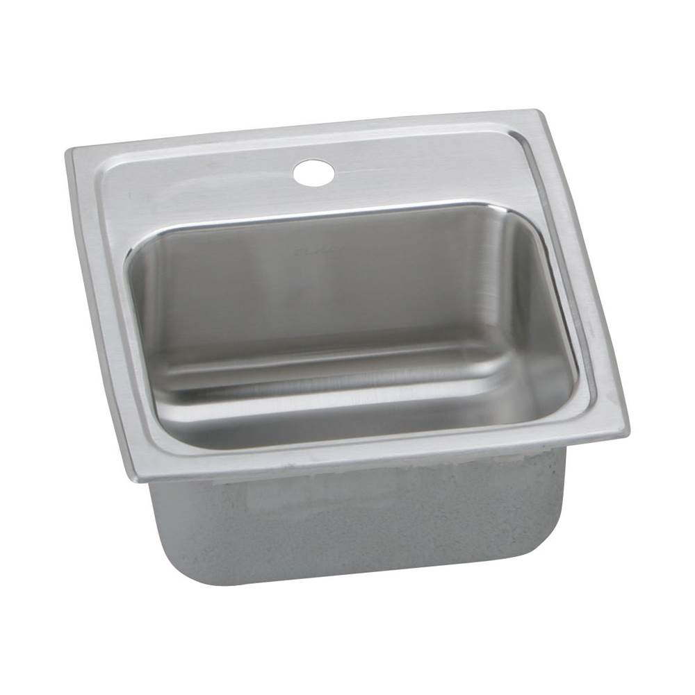 Elkay 18 Gauge Stainless Steel 15'' X 15'' X 7.125'' Single Bowl Top Mount Bar/Prep Sink