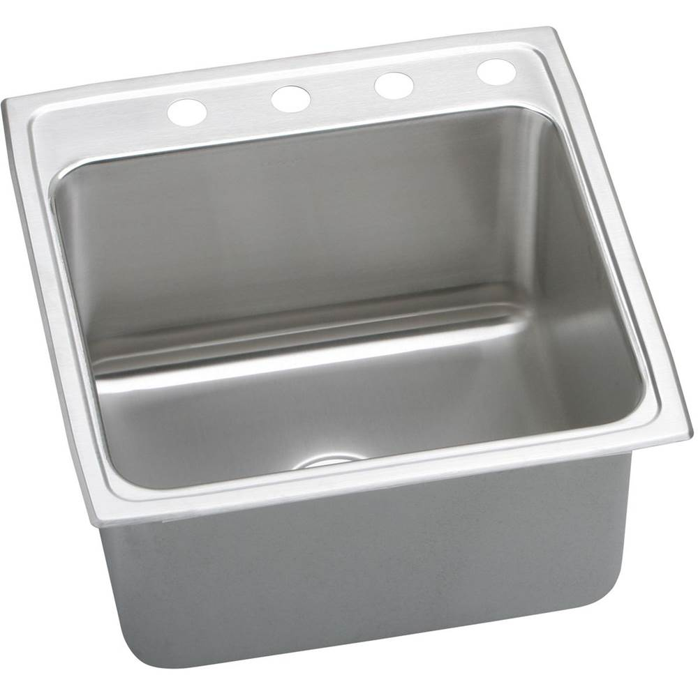 Elkay 18 Gauge Stainless Steel 22'' X 22'' X 12.125'' Single Bowl Top Mount Kitchen Sink