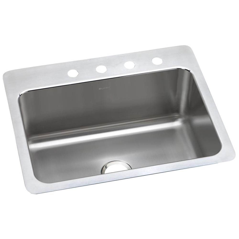 Elkay Elkay Lustertone Classic Stainless Steel 27'' x 22'' x 10'', Single Bowl Dual Mount Sink