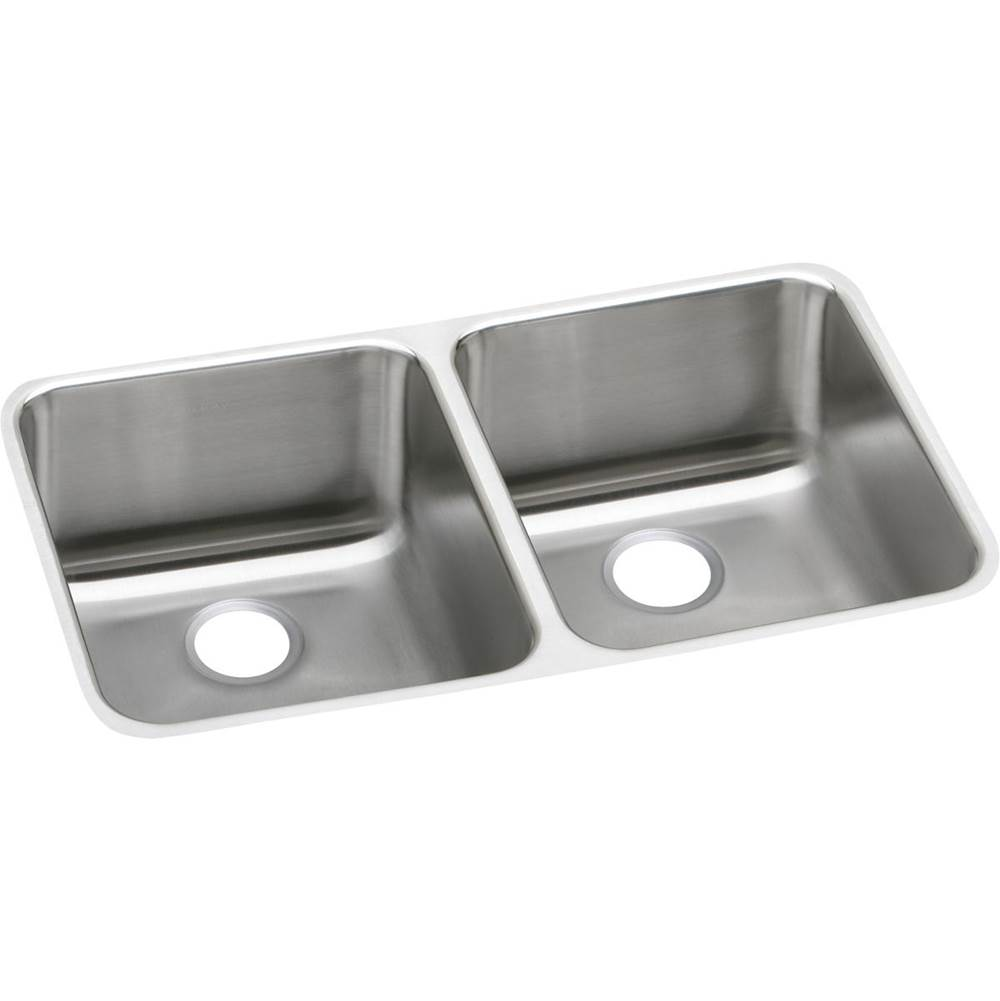 Elkay Elkay Lustertone Classic Stainless Steel 30-3/4'' x 18-1/2'' x 10'', Equal Double Bowl Undermount Sink
