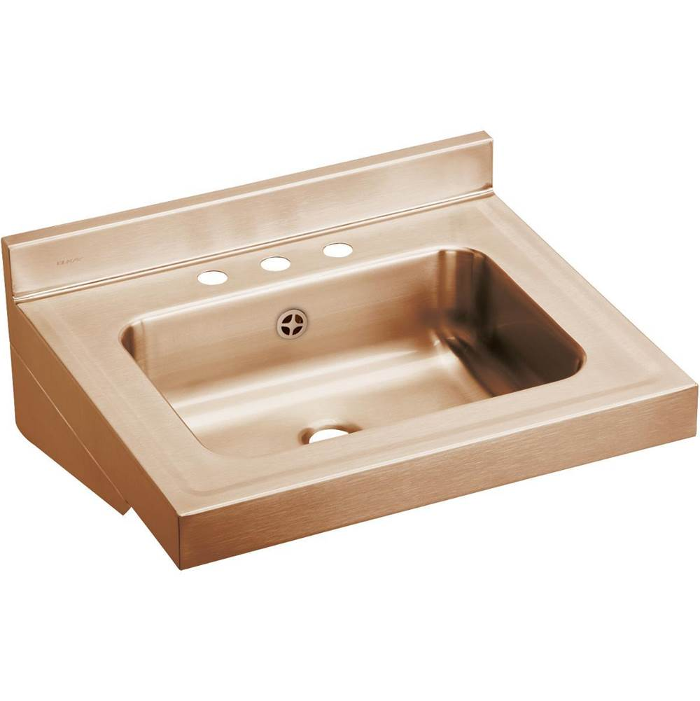 Elkay Elkay CuVerro Antimicrobial Copper 22'' x 19'' x 16'' Rectangular Lavatory Sink with Overflow