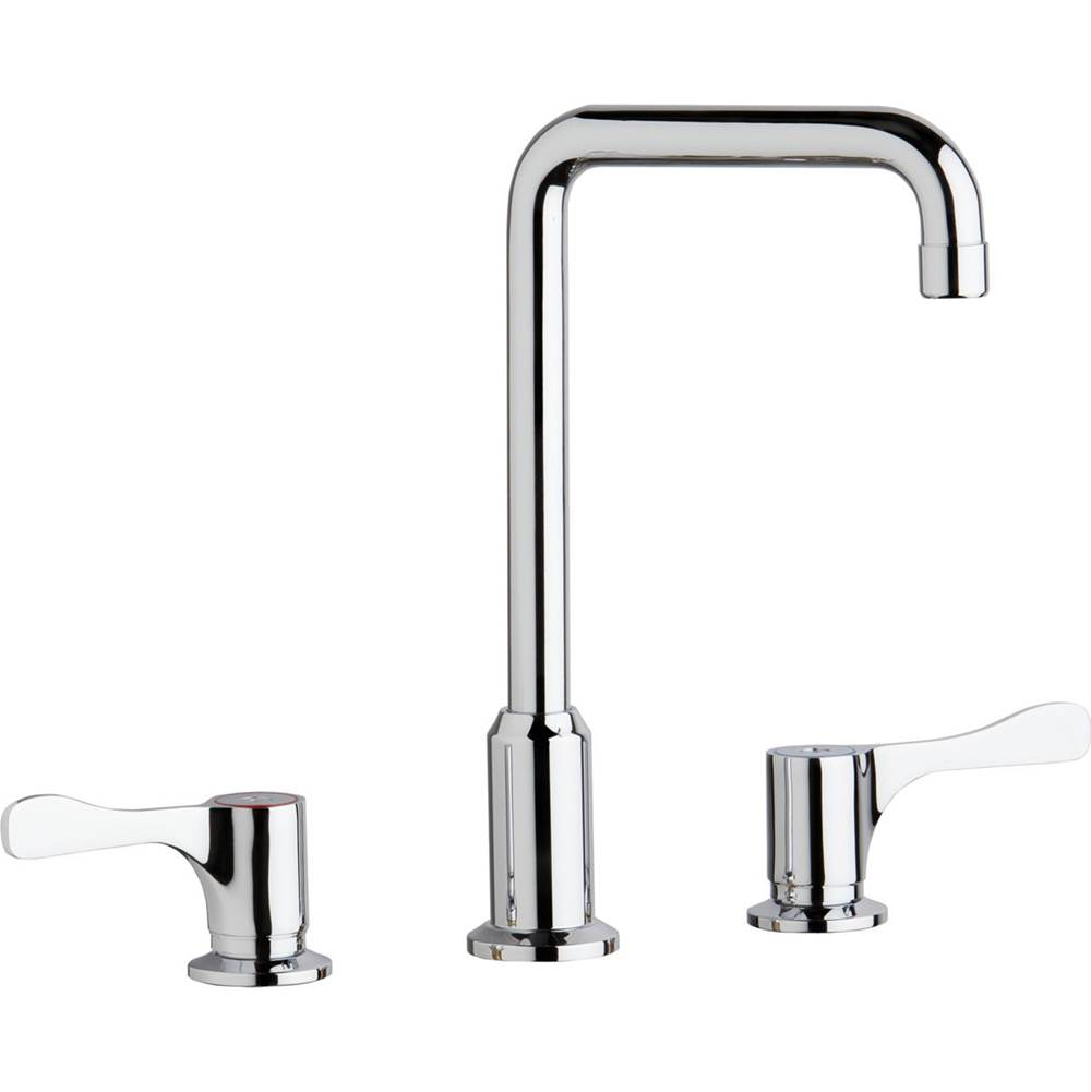 Elkay Elkay 8'' Centerset Concealed Deck Mount Faucet with Arc Tube Spout and 4'' Lever Handles Chrome