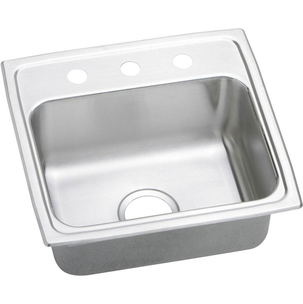 Elkay 18 Gauge Stainless Steel 19'' X 18'' X 7.625'' Single Bowl Top Mount Kitchen Sink