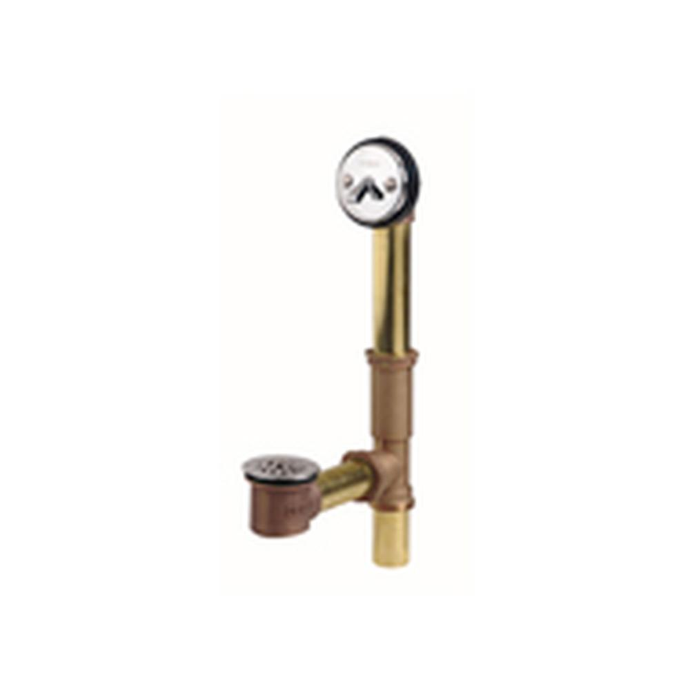 Gerber Plumbing Gerber Classics Trip Lever Drain for Standard Tub with Brass Ferrules Chrome