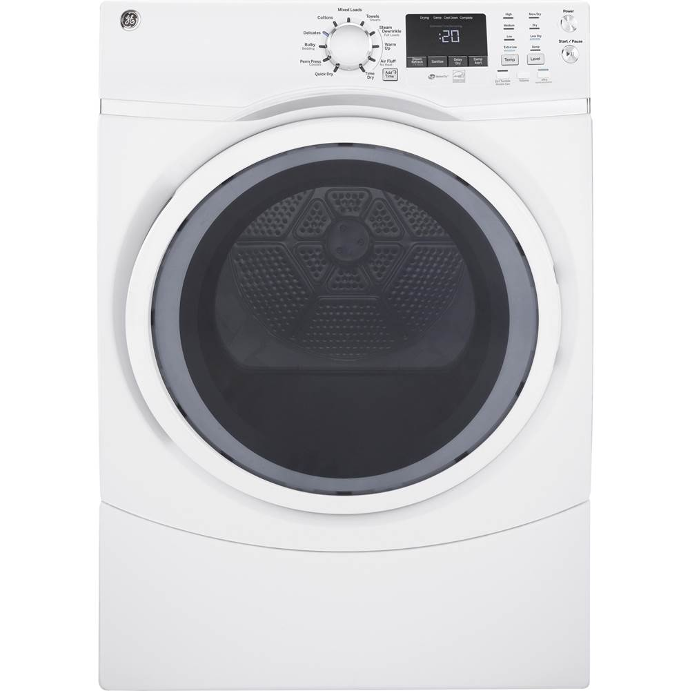 GE Appliances GE 7.5 cu. ft. Capacity Front Load Electric Dryer with Steam