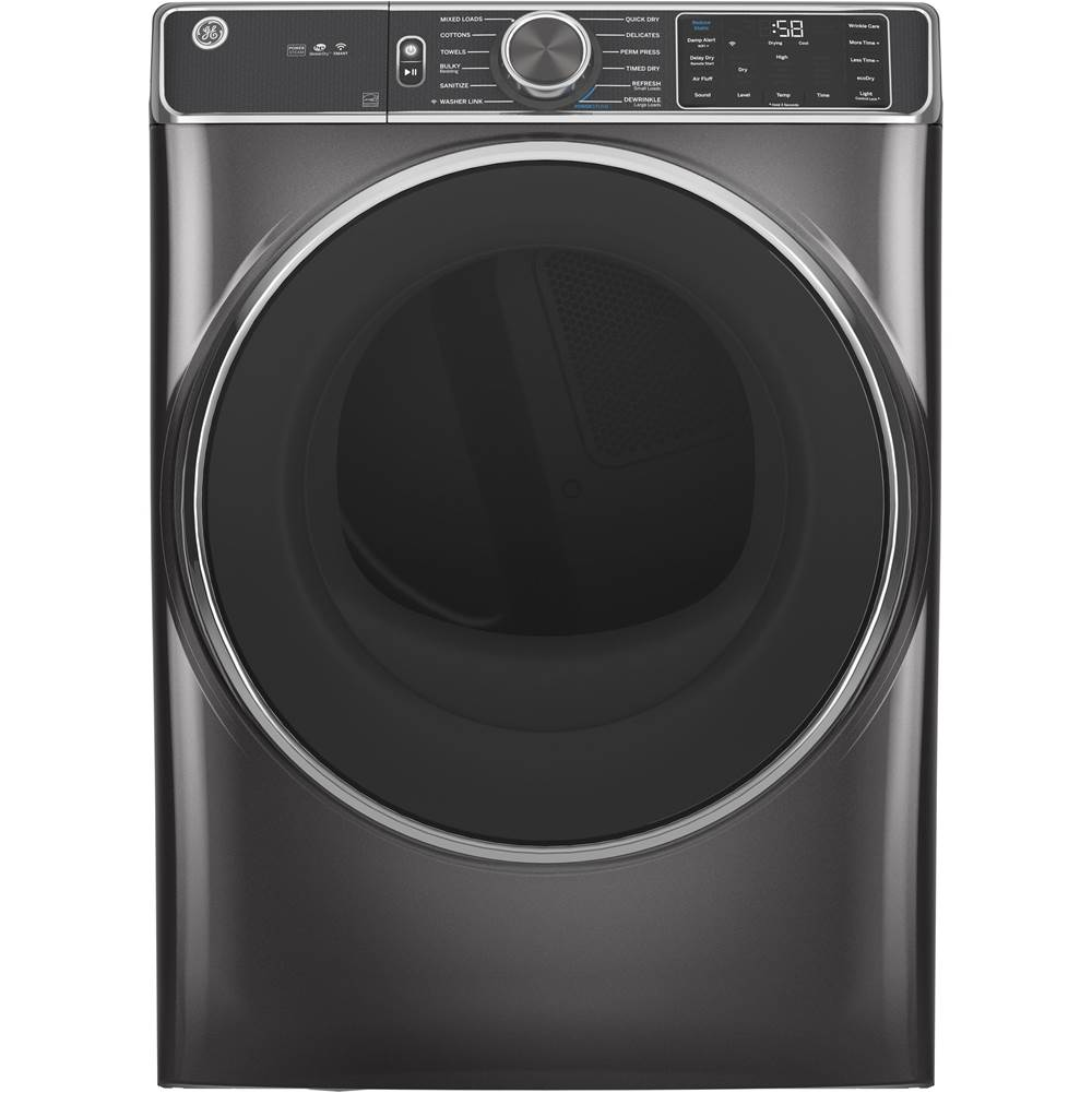 GE Appliances GE 7.8 cu. ft. Capacity Smart Front Load Electric Dryer with Steam