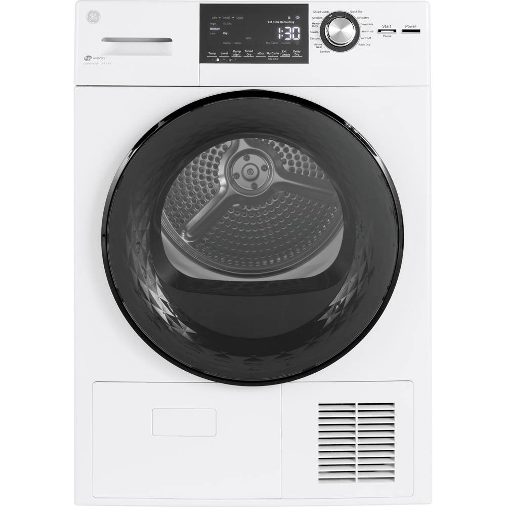 GE Appliances GE 24'' 4.1 Cu.Ft. Front Load Ventless Condenser Electric Dryer with Stainless Steel Basket