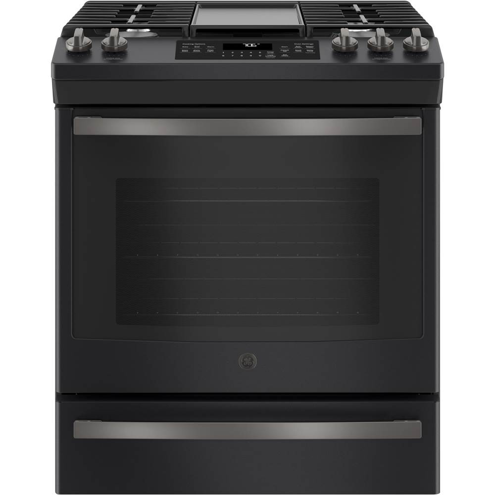 GE Appliances GE 30'' Slide-In Front-Control Convection Gas Range