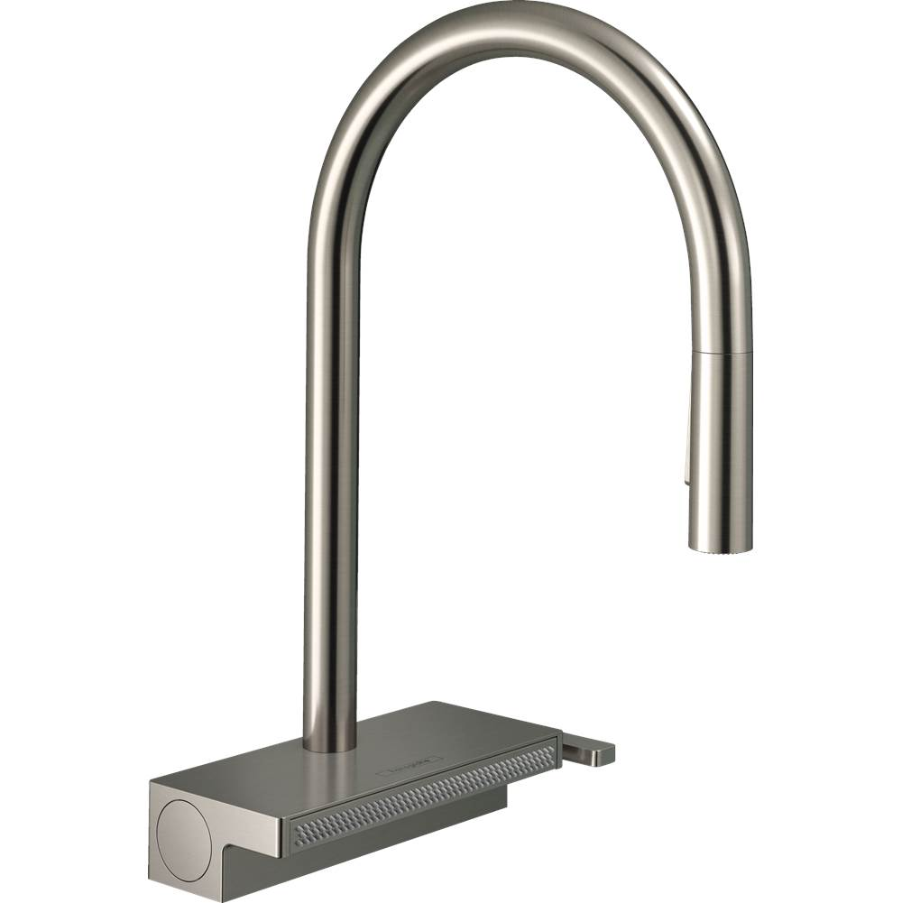 Hansgrohe Aquno Select Higharc Kitchen Faucet, 3-Spray Pull-Down With Sbox, 1.75 Gpm In Steel Optic