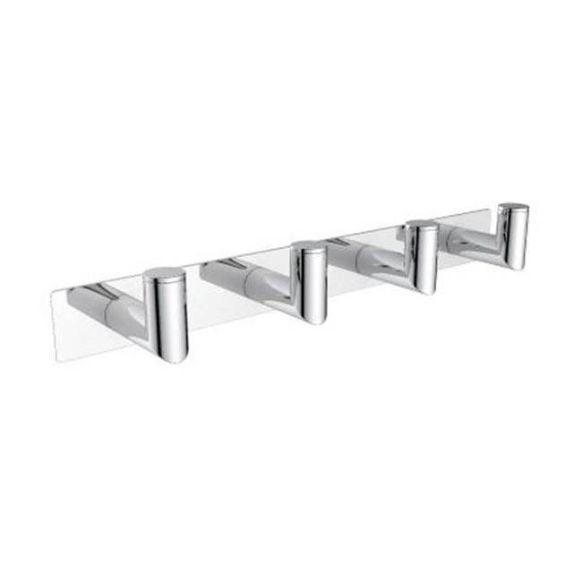 Kartners OSLO - Quadruple Robe Hook  - Deep-  Brushed Chrome