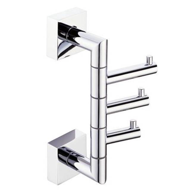 Kartners MADRID - Triple Robe Hook  - Polished Nickel