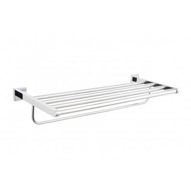 Kartners VERONA - Towel Shelf w/ Bar 24''- New World Bronze