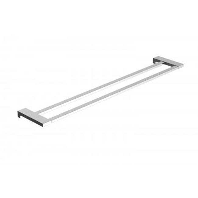 Kartners NAPLES - 24'' Double Towel Bar  -  Brushed Gold