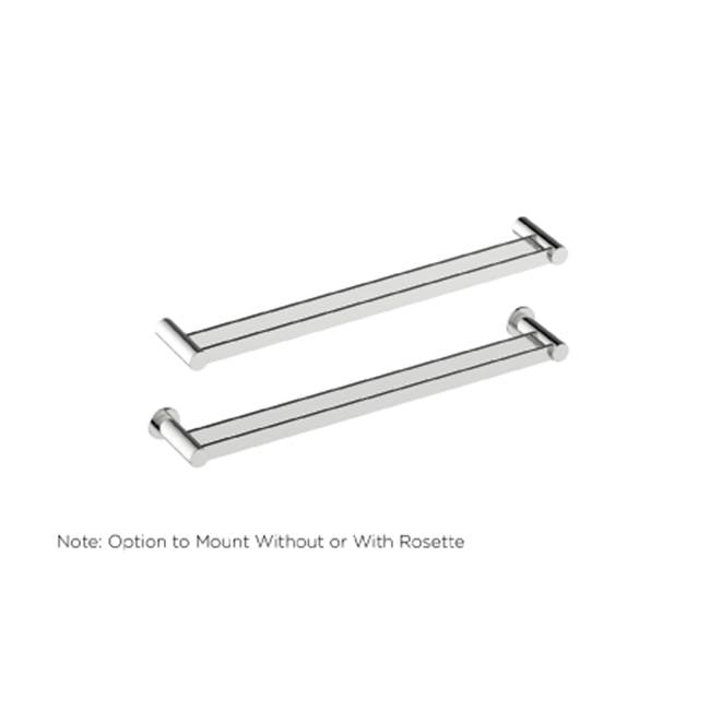 Kartners PORTO -  Double Towel Bar - Antique Nickel