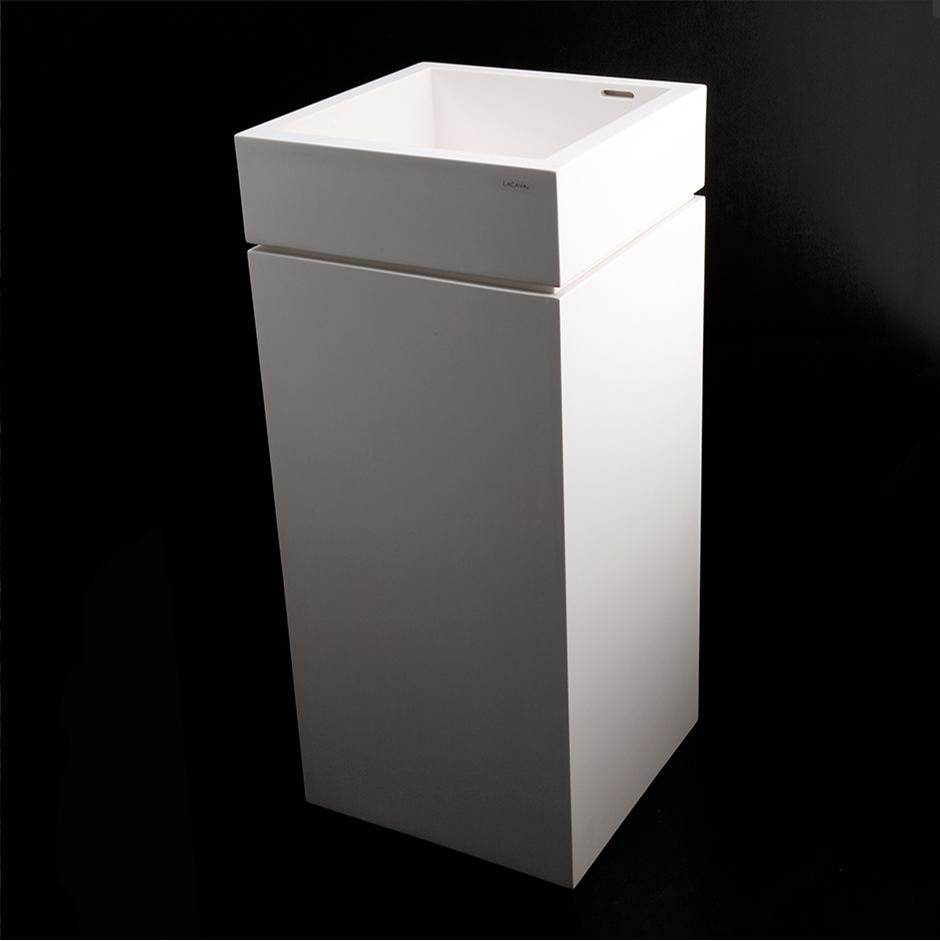 Lacava Pedestal made of solid surface for Bathroom Sink 5125 (sold separately), 16''W x 16''D x 28''H