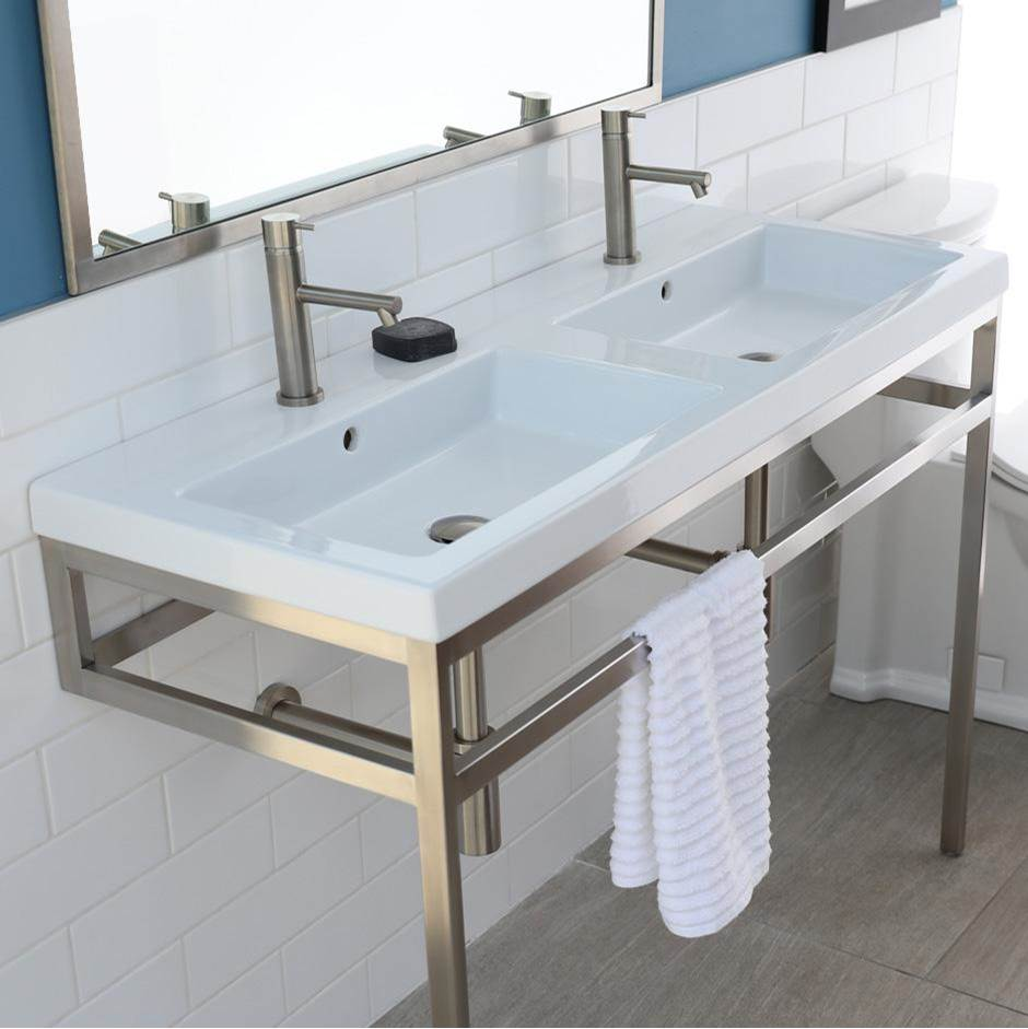 Lacava Optional solid surface shelf for metal console stand with a towel bar AQQ-BX-48