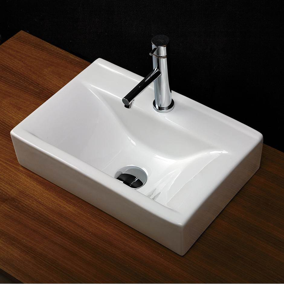 Lacava Vanity top porcelain lavatory with an overflow
